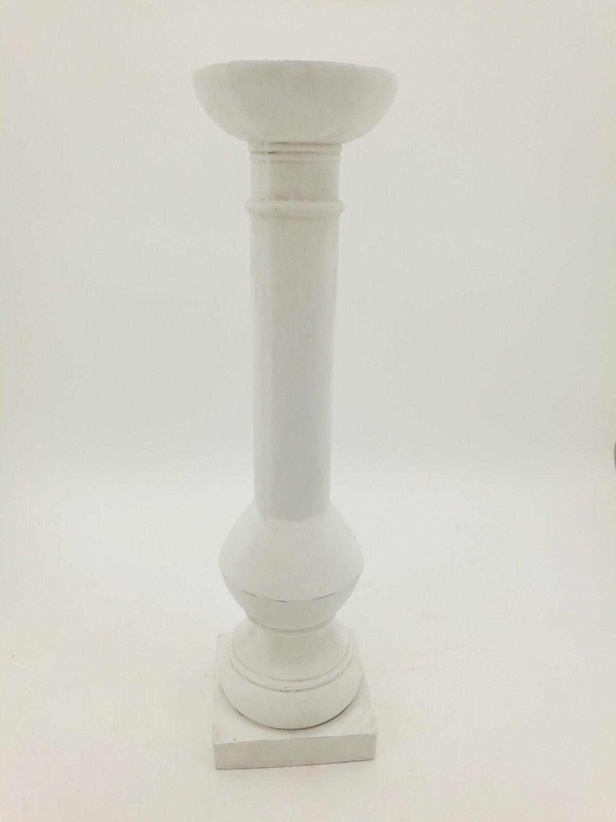 Portacandela cemento bianco D.21,5 H.81