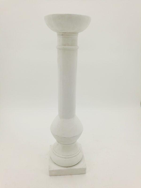 Portacandela cemento bianco D.25 H.101