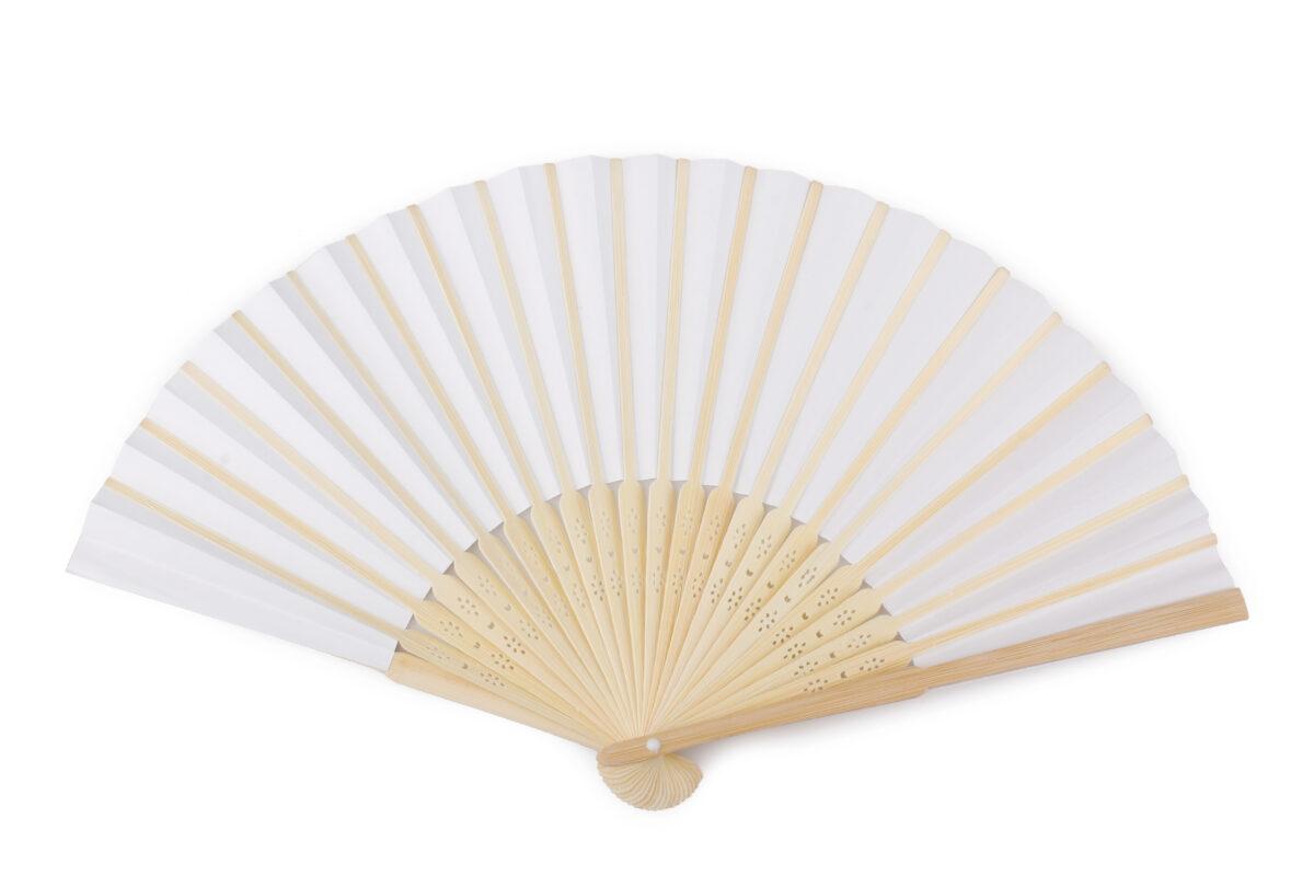 Ventaglio in carta e legno naturale di bamboo diametro 35 cm