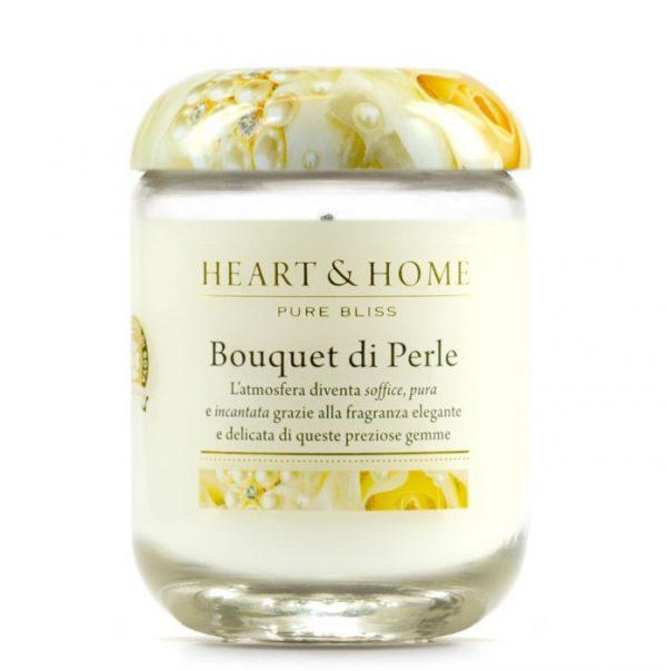 Candela profumata in cera di soia - Bouquet di perle