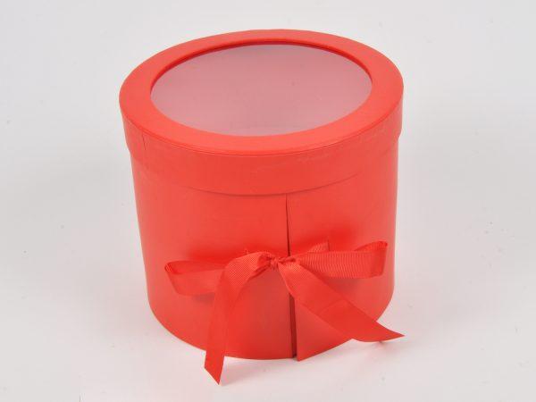 Scatola Tonda 2 cassetti rosso