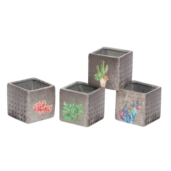 Vasi Cubo in ceramica set da 12