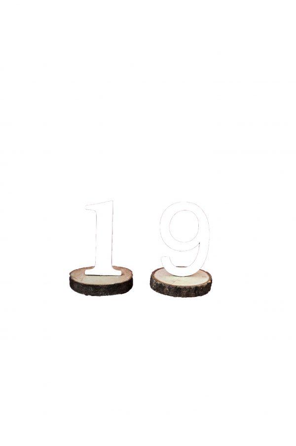 Numeri segnatavolo su base in legno