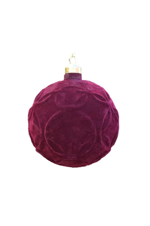Palla di Natale Barok in velluto d.10cm