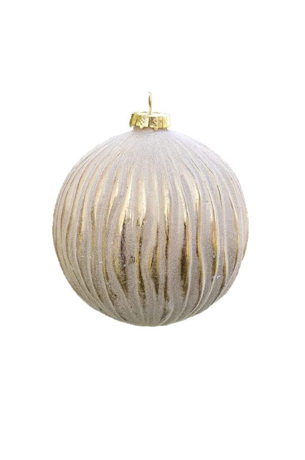 Palla di Natale Onda Gold in vetro d.10cm
