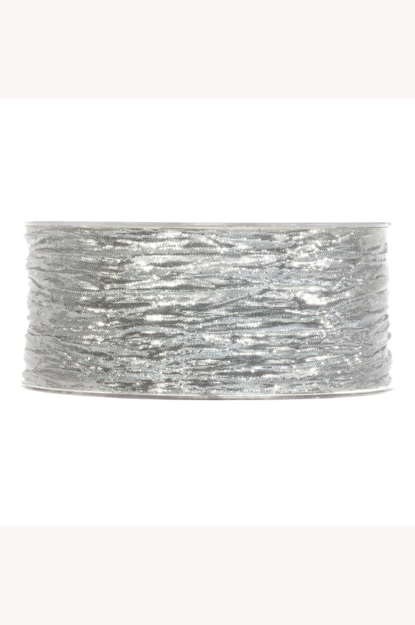 Nastro lamè argento 38 mm x 10 mt