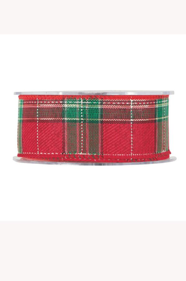 Nastro scozzese verde e rosso 40mm x 10 mt