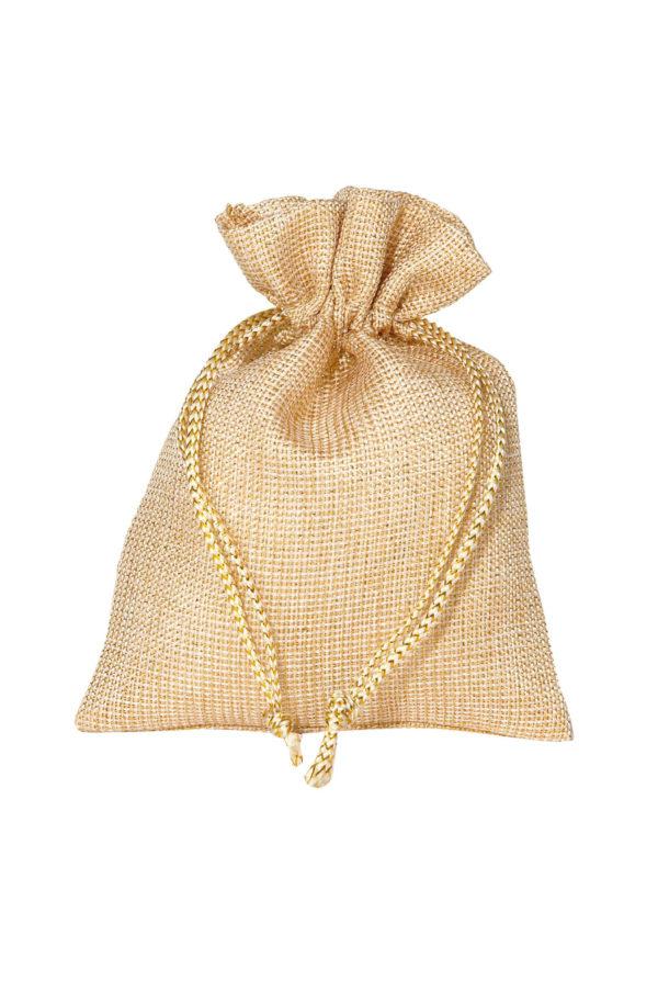 Bustina-sacchetto oro 12 x 17 cm