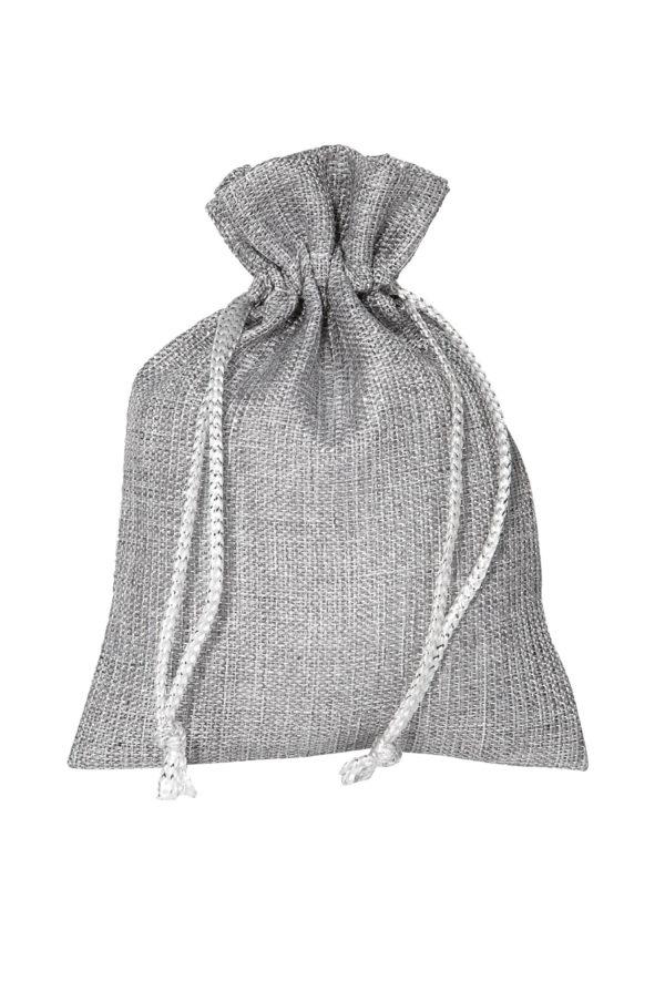 Bustina-sacchetto argento 12 x 17 cm