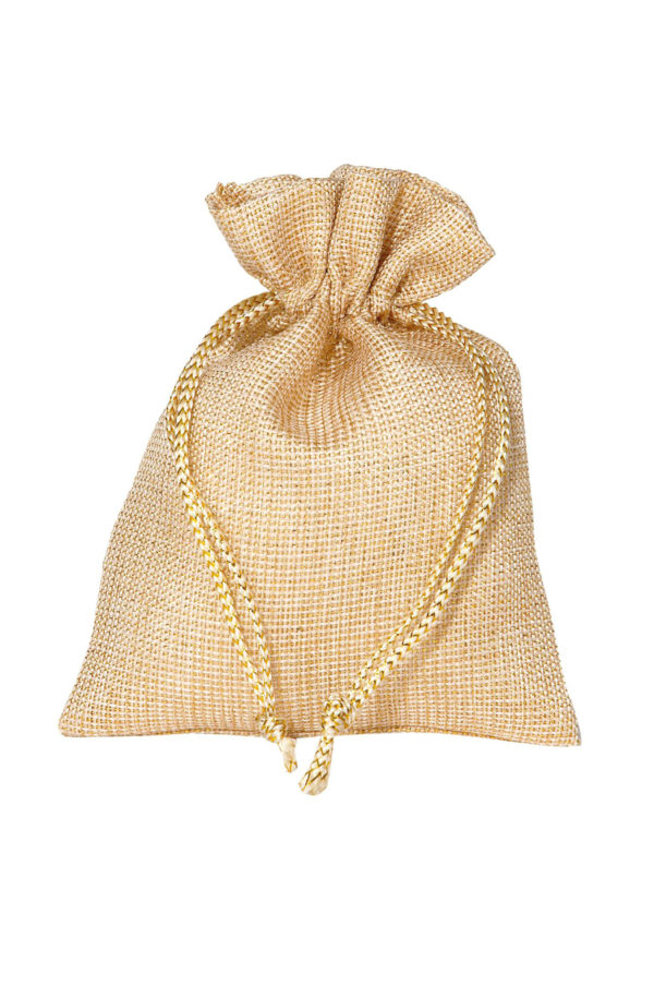 Bustina-sacchetto oro 9 x 12 cm