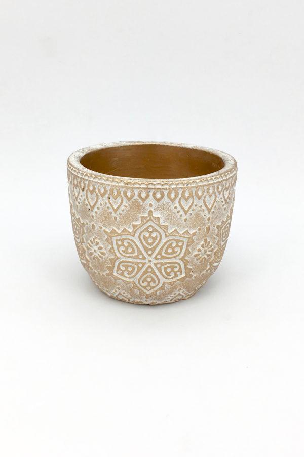 Vaso svasato oro arabesque d.12,5 h.10