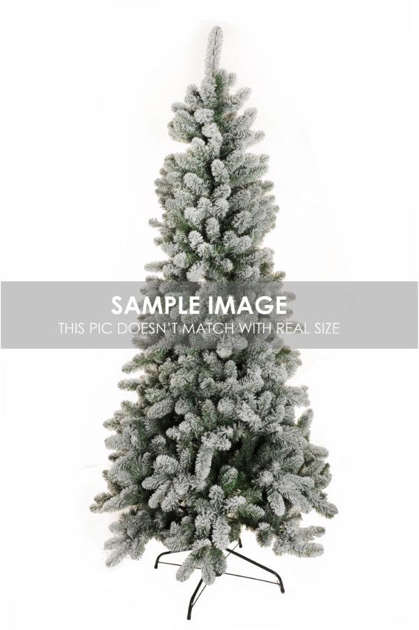 Albero di Natale innevato slim d. 120 cm, h. 240 cm