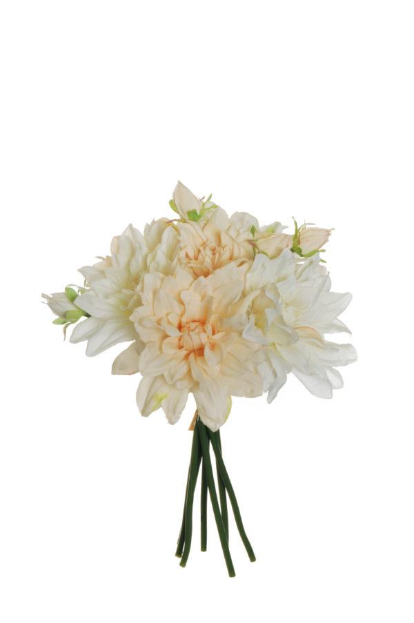 Fascio di dalia x 7 bianco crema 29 cm