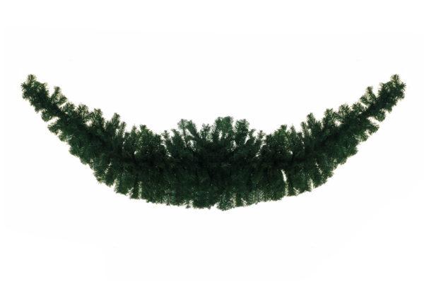 Ghirlanda natalizia verde in pvc d. 55 cm, h. 270 cm