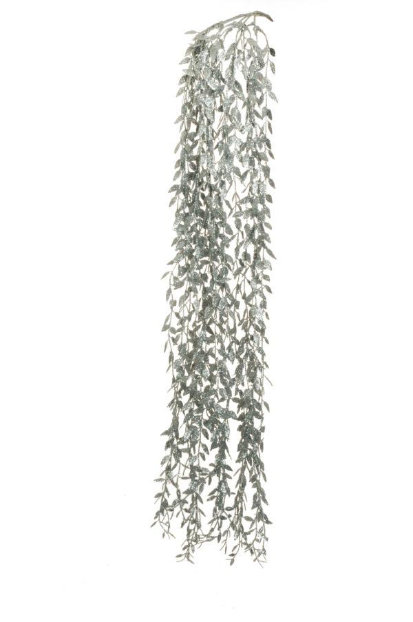 Bush x 5 ruscus argento glitterato pendente 105 cm