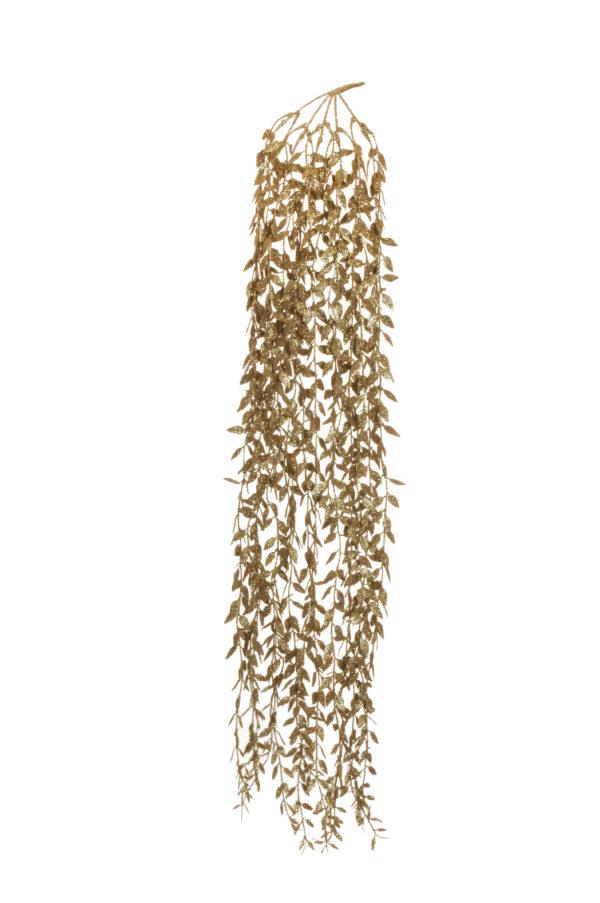 Bush x 5 ruscus oro glitterato pendente 105 cm