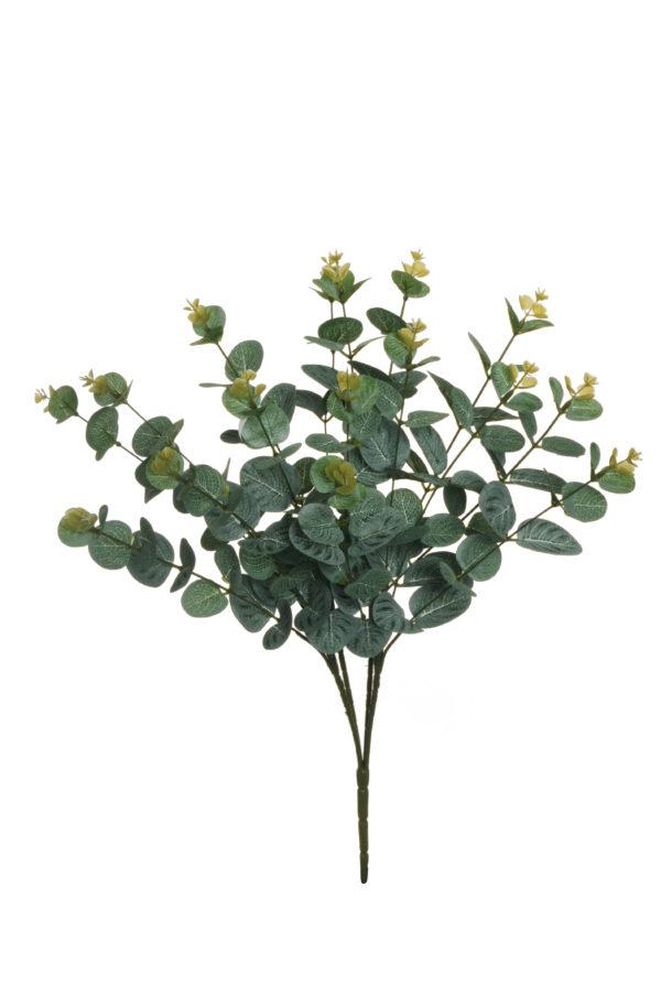 Bush di eucalipto artificiale con 16 gruppi di foglie grey green 50 cm