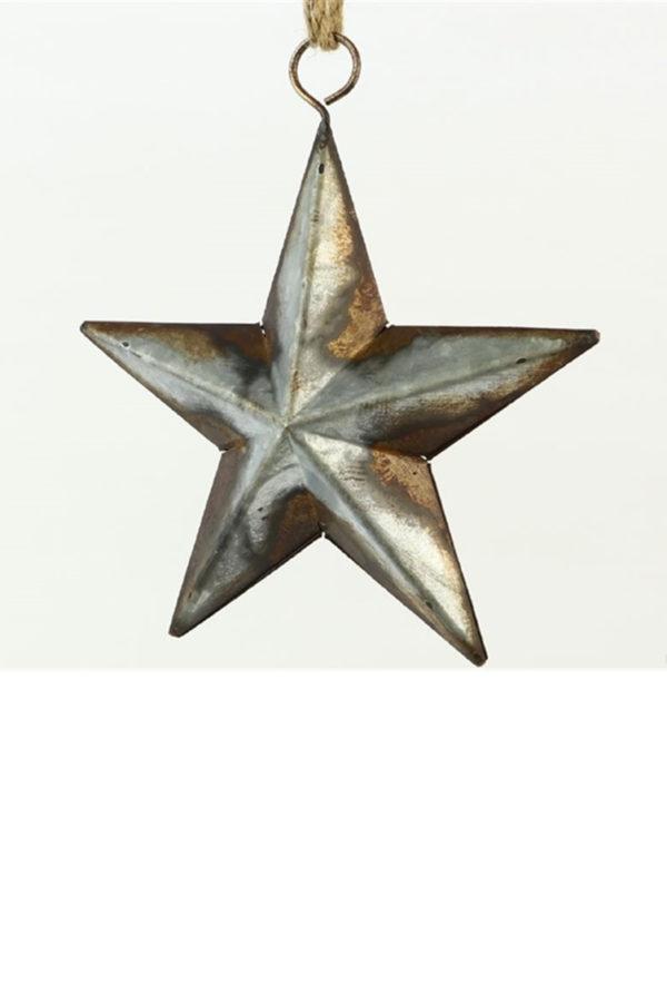 Stella in ferro vintage in ferro antichizzato h. 16,5 cm