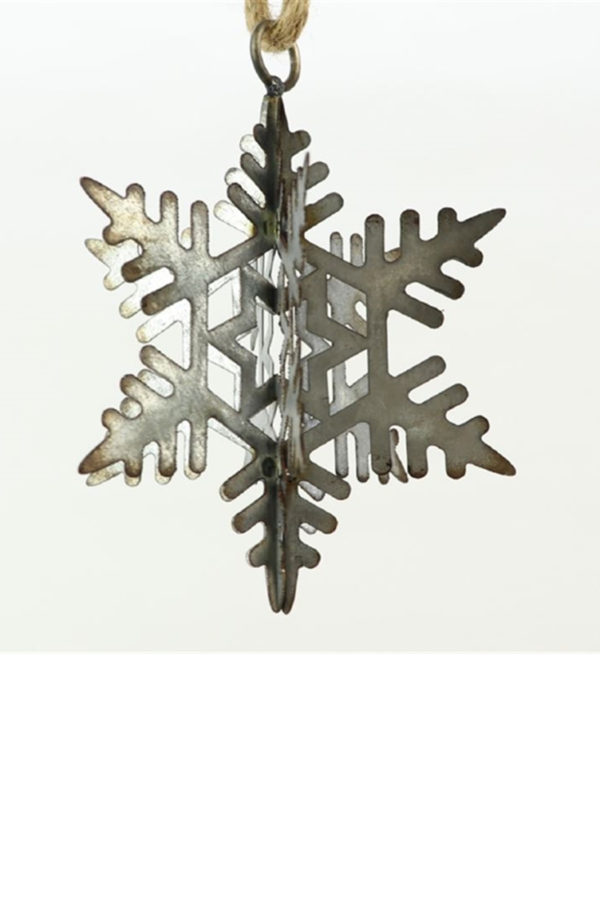 Fiocco di neve in ferro vintage h. 15 cm