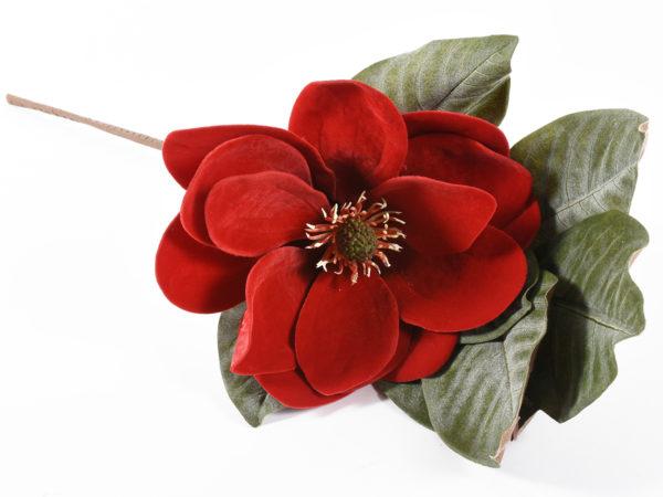 Ramo di magnolia rosso 76 cm