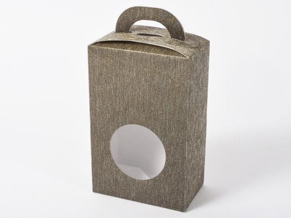 Scatolina con manici argento Set 6 pz 9x5x13,5cm