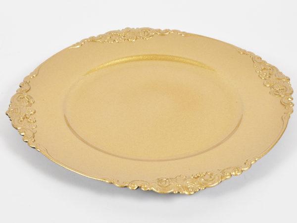 Piatto oro d. 35x2cm