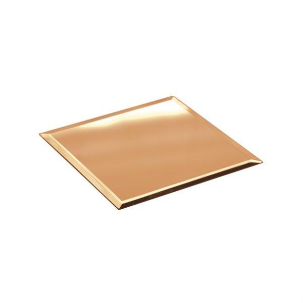 Specchio quadrato color oro d. 20 x 20 cm h. 40 mm