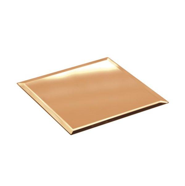 Specchio quadrato color oro d. 30 x 30 cm h. 40 mm