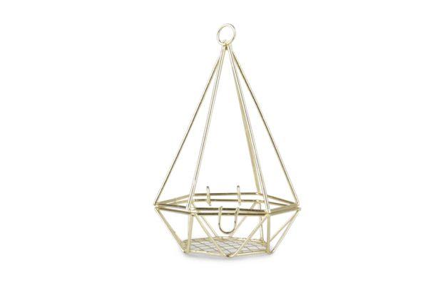Set x 10 piramidi forme geometriche oro h. 10,5cm