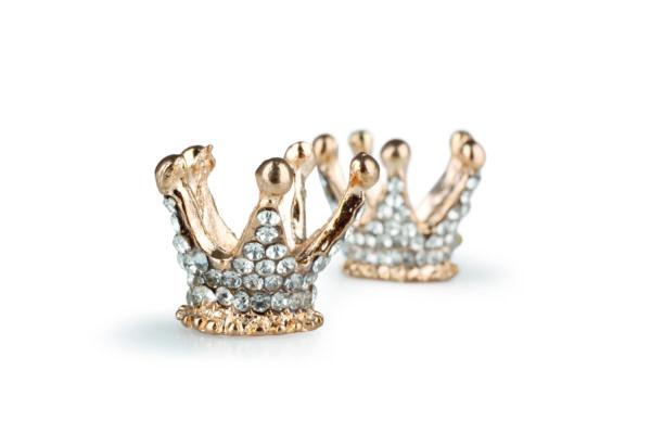 Set x 10 mini corone in metallo oro