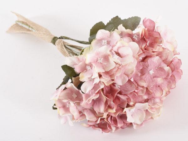 Pick - mazzo di ortensia artificiale di colore rosa 28,5 cm