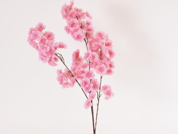 Ramo artificiale di ciliegio in fiore 110 cm rosa