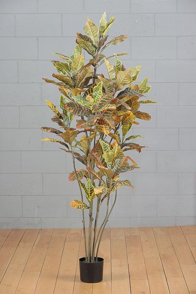 Pianta artificiale di Croton con vaso h. 150 cm