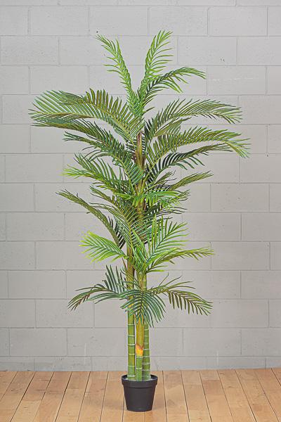 Pianta Artificiale Kenzia Foglie Palma in vaso h. 212cm