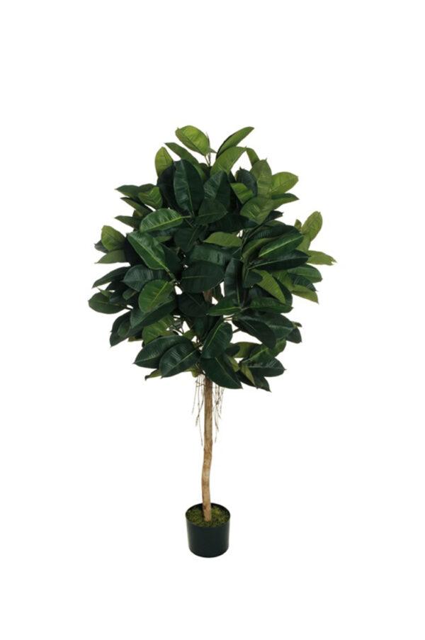 Pianta artificiale di Ficus Pandora con 130 foglie in vaso h. 150 cm