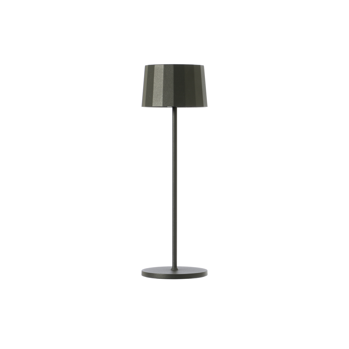 Lampada da tavolo color antracite. Ricaricabile tramite micro USB, dimmerabile e resistente ad acqua e polvere d. 11 cm h. 35 cm