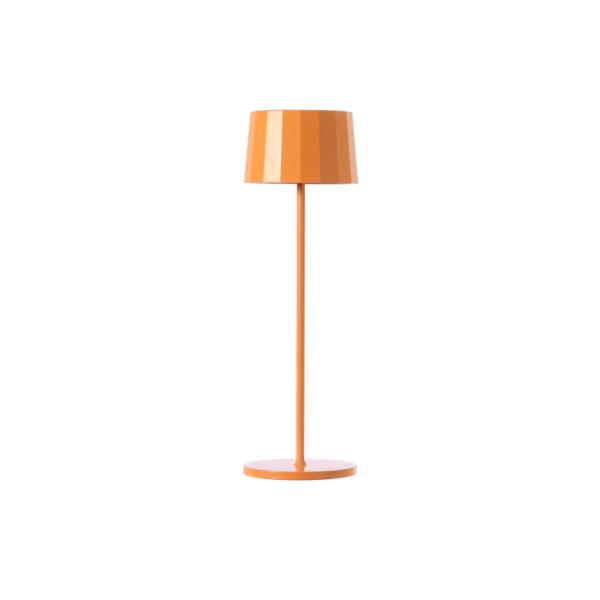 Lampada da tavolo arancione. Ricaricabile tramite micro USB, dimmerabile e resistente ad acqua e polvere d. 11 cm h. 35 cm
