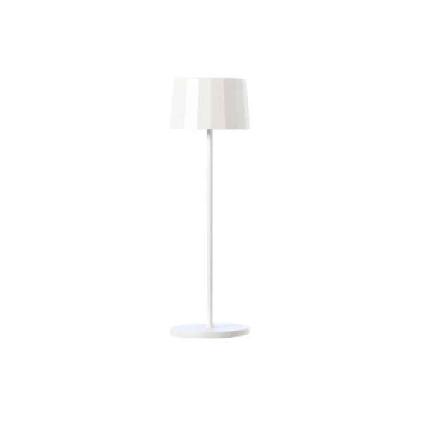 Lampada da tavolo bianca. Ricaricabile tramite micro USB, dimmerabile e resistente ad acqua e polvere d. 11 cm h. 35 cm