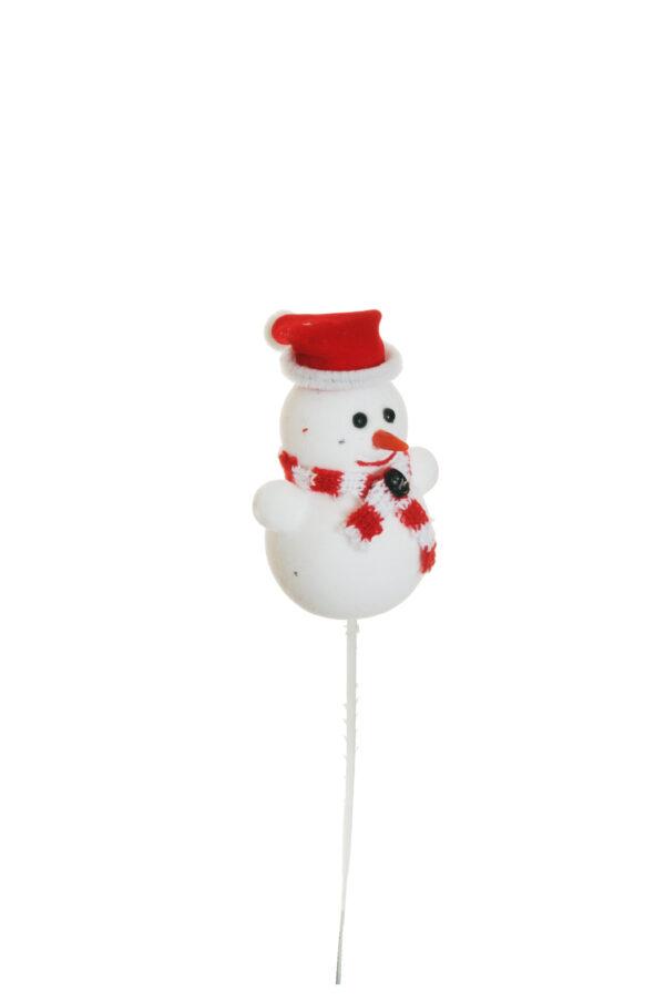 Set da 6 pick decorativo con pupazzo di neve 19 cm