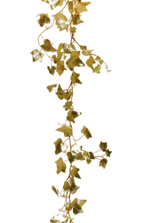 Ghirlanda di edera artificiale color oro metallico 145 cm