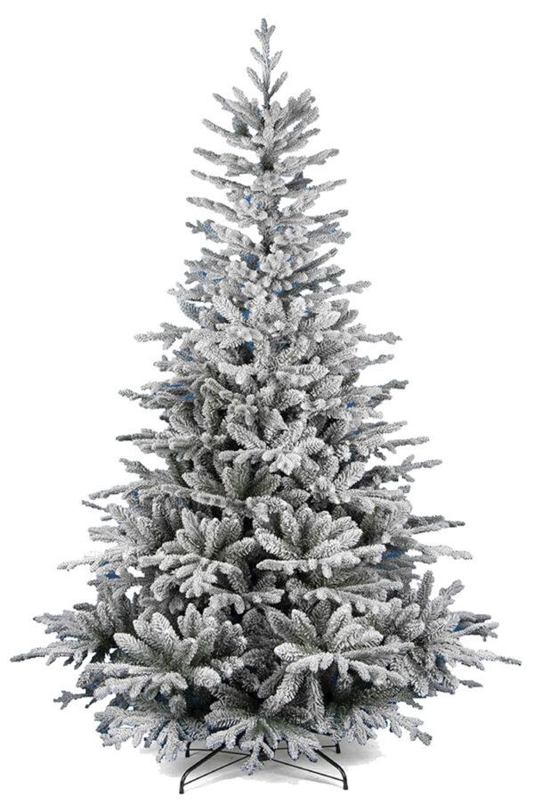 Albero di Natale artificiale verde innevato h. 240 cm