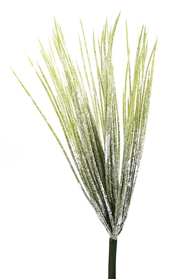 Mazzo di erba verde artificiale effetto ghiacciato 43 cm