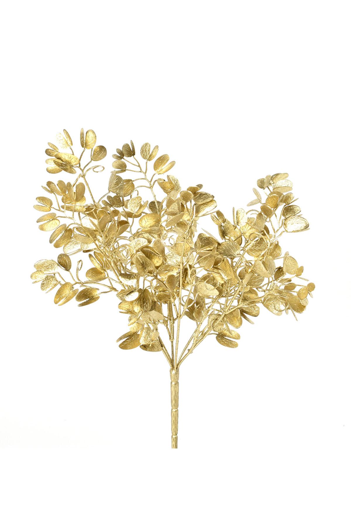 Mazzo di eucalipto artificiale oro h 37cm