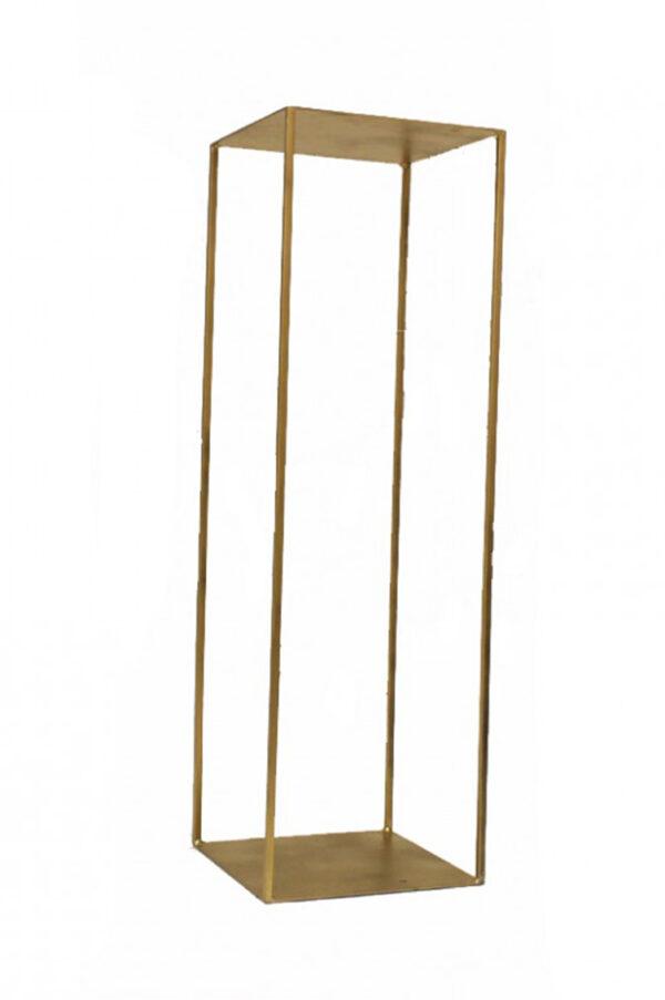Cubo in ferro oro opaco alzata per eventi 30x30x30 h.60cm