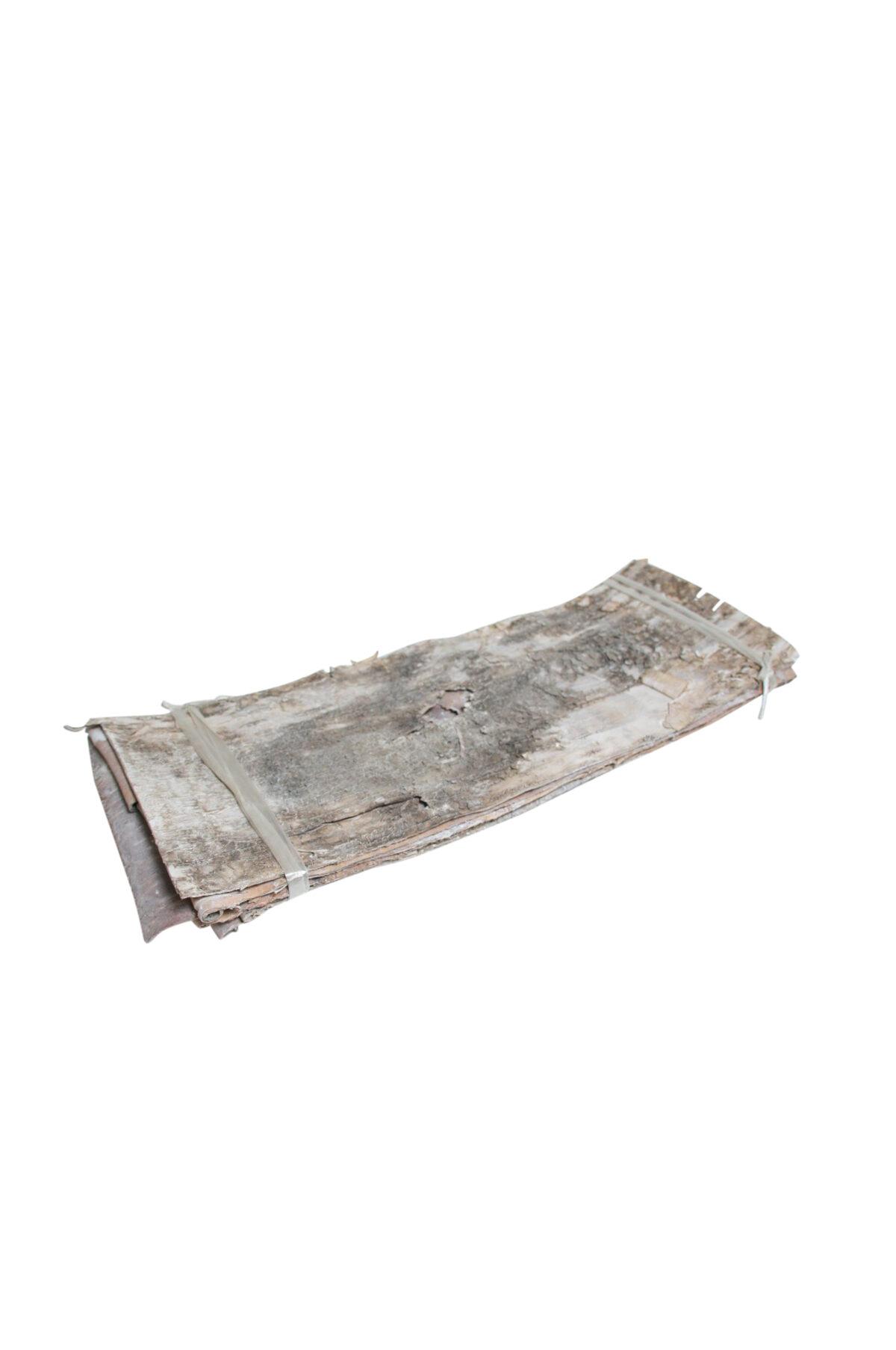 Set 5 fogli di corteccia di betulla naturale, secca, stabilizzata e sbiancata lungh. 70 larg. 24 cm