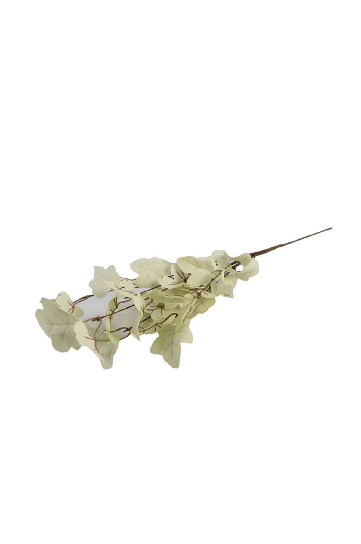 Stelo di edera artificiale bianca l. 77 cm