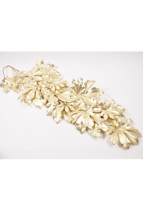 Ghirlanda di aralia artificiale oro 132 cm