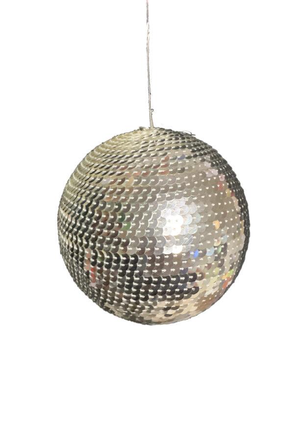 Pallina di Natale con paillettes argento d. 13 cm