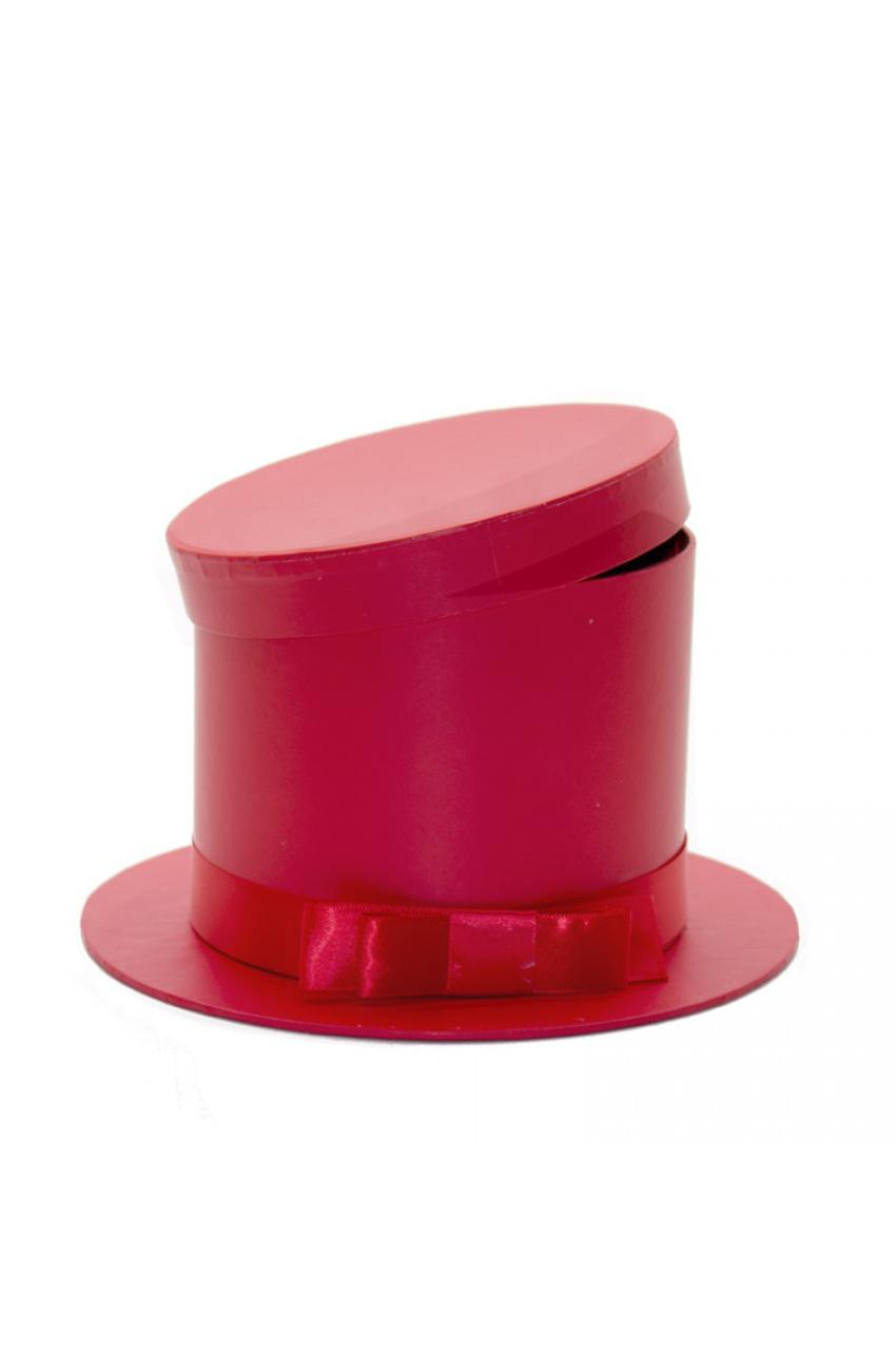 Scatola regalo - Flower box cilindro rosso d. 22(d. interno15,5) x 13 cm
