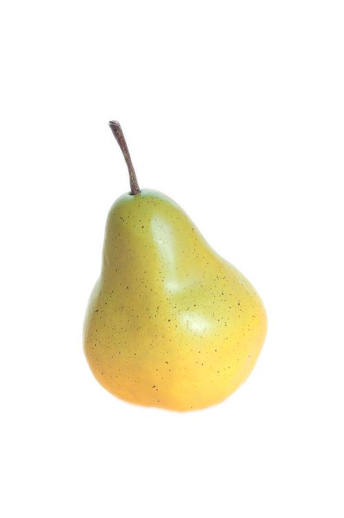 Frutta artificiale Pera gialla con sfumature verdi 8 x h. 13 cm